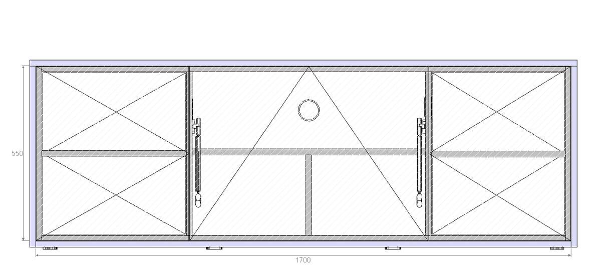 emondo Studio thuis-bioscoop meubel; maatwerk tekening