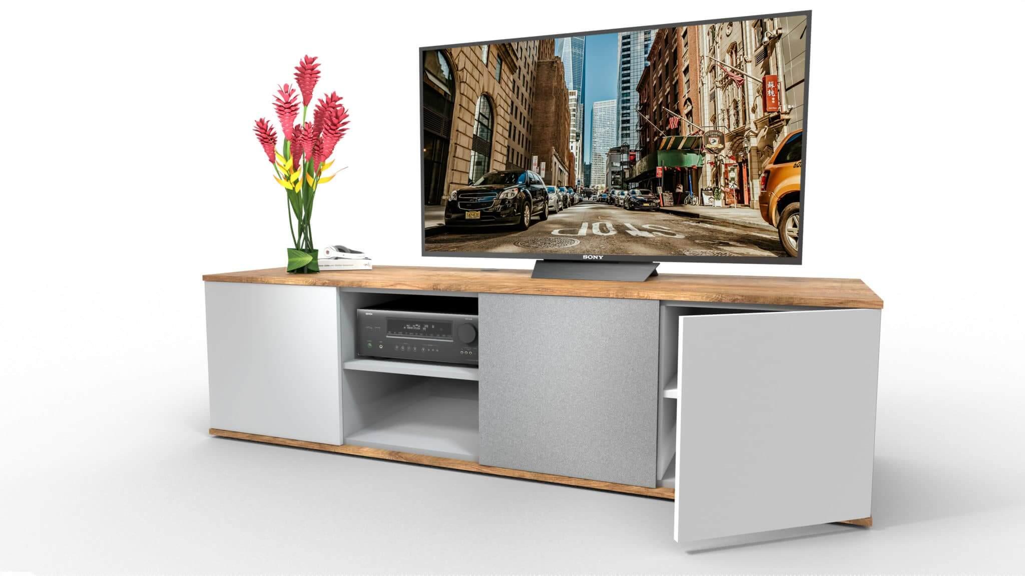 emondo Style thuis-bioscoop meubel met klep voorzien van luidsprekerdoek