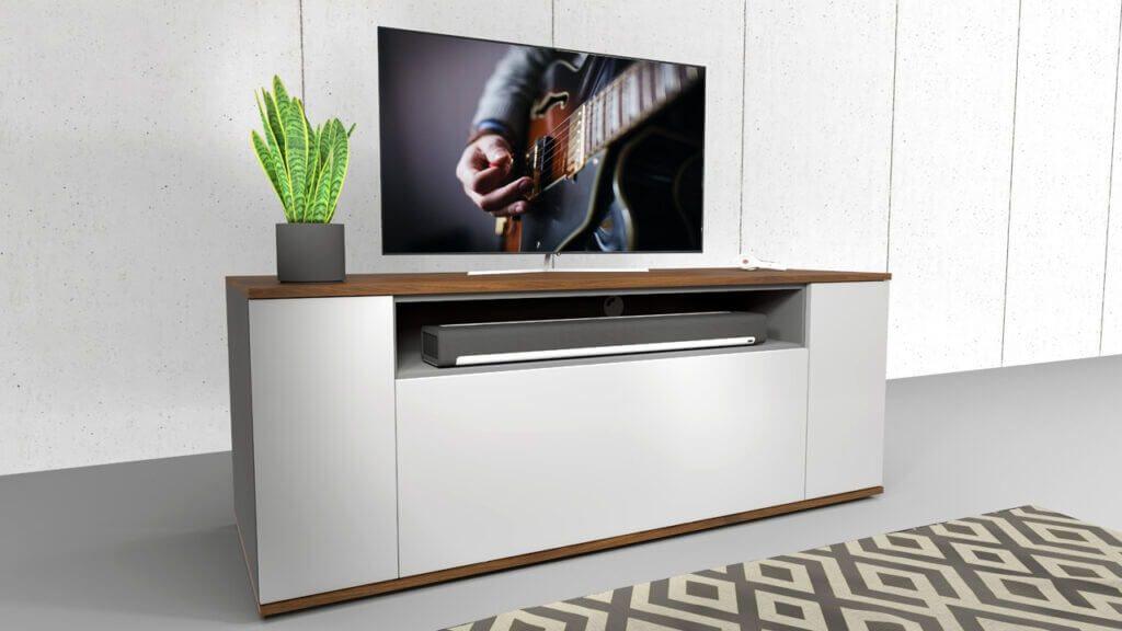 emondo tv meubel op maat met SONOS soundbar